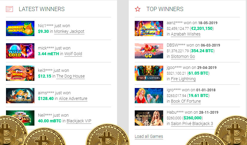 East coast bitcoin slots