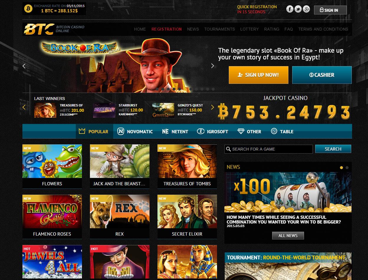 Bitcoin slot games online for money